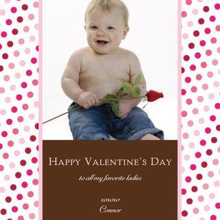 Photo Valentine's Day Card -- Tiny Hearts