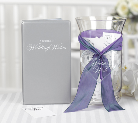 Wedding Wishes Cards and Book. Ask guests to write their wishes on