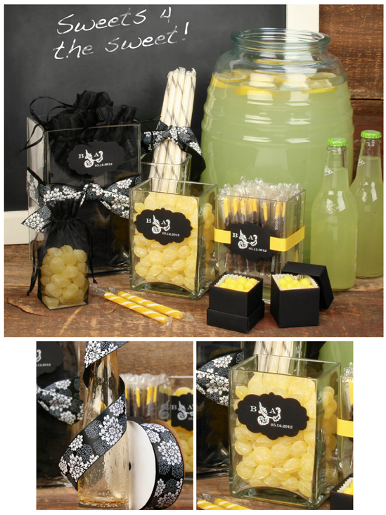 black and yellow wedding candy bar. We've put together an eye-catching and
