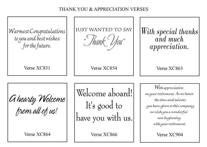 Thank You Verses